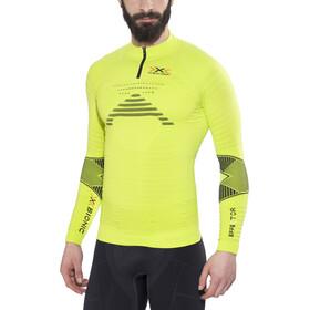 X-Bionic Trail Running Effektor OW LS Zip-Up Shirt Herren green lime/black
